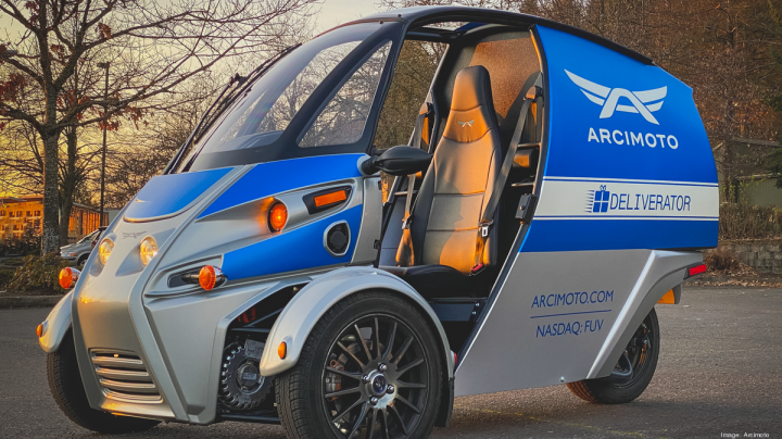 Arcimoto's Deliverator Electric Vehicle Pictured Here